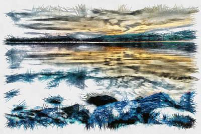 Manatee Co Photograph - Letra - Pencil by Nicholas Evans