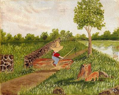Painting - Let's Go Fishing by Jessi and James Gault