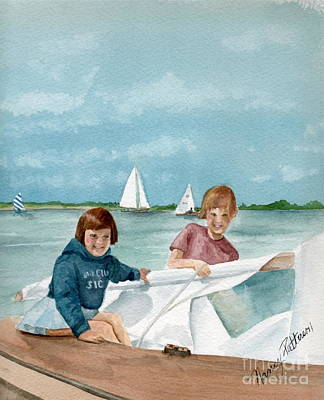 Painting - Let's Go Sailing  by Nancy Patterson