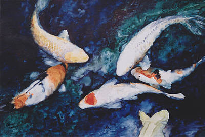 Fish Painting - Let's Play by Eve Riser Roberts