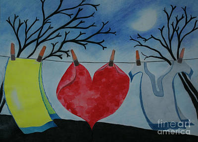Lets Wash Heart Art Print by Jalal Gilani