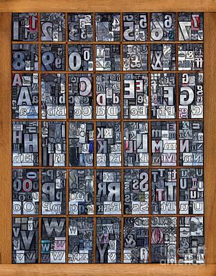 Letterpress Alphabet Art Print by Richard Thomas