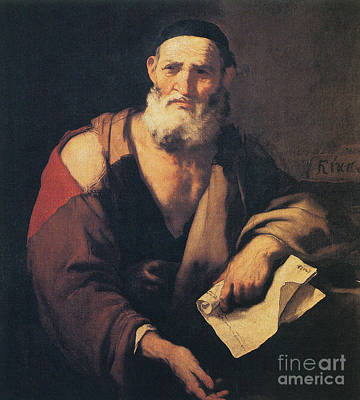 Leucippus, Ancient Greek Philosopher Art Print