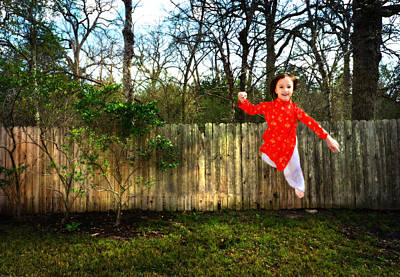 Photograph - Levitation Portrait Of Young Girl by Nikki Marie Smith