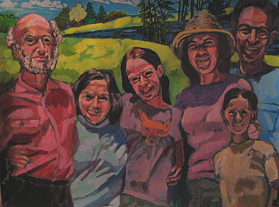 Painting - Levitt Family by Doris  Lane Grey