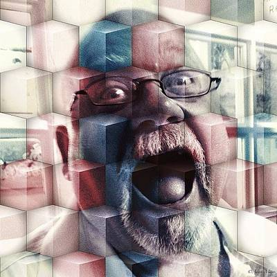 Iphone 4 Photograph - Lew Cubed - Crazy As Ever! #portrait by Photography By Boopero