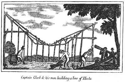 Lewis & Clark: Huts, 1800s Art Print by Granger