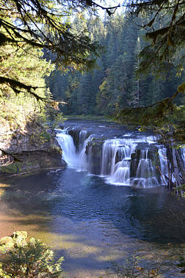 Photograph - Lewis River Lower Falls by Ansel Price