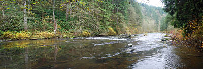 Lewis River Panorama Art Print by Twenty Two North Photography