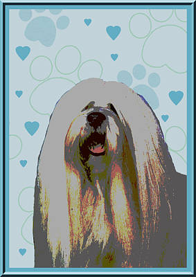 Lhasa Apso Art Print by One Rude Dawg Orcutt