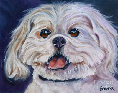 Painting - Lhasa Apso by Susan A Becker