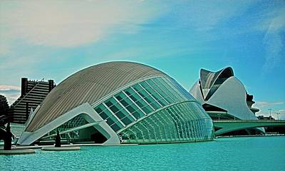 Photograph - L'hemisferic - Valencia by Juergen Weiss