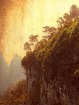 Li River Mountainside Art Print