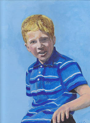 Painting - Liam by Peter Edward Green