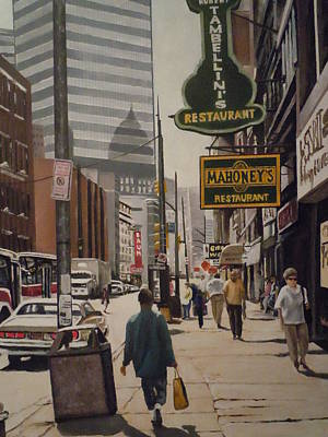 Liberty Avenue In The 80s Print by James Guentner