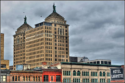 Music Figurative Potraits - Liberty Building and Hotel Lafayette by Michael Frank Jr