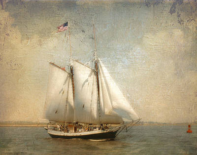 Photograph - Liberty Clipper On Boston Harbor by Karen Lynch