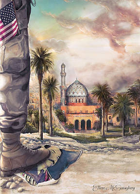 Iraqi Painting - Liberty by Ellen Mcgaughey