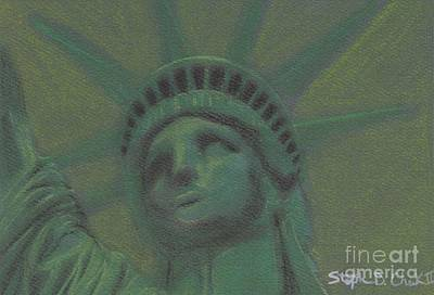 Liberty In Green Art Print by Stephen Cheek II