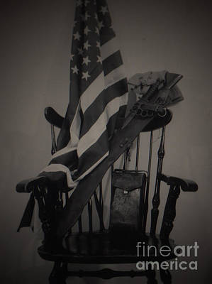 U.s.a. Flag Photograph - Liberty Or Death by C E Dyer