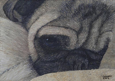 Painting - Liberty The Pug by Masami Iida