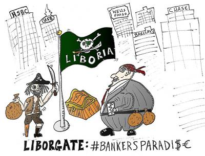 Financial Mixed Media - Liboria The Safe Haven Of Liborgate Prate Bankers by OptionsClick BlogArt