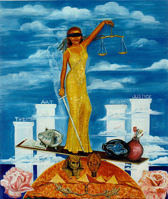 Justice Painting - Libra by Carole Joyce