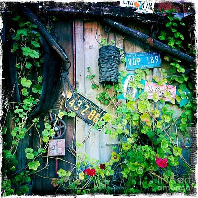Art Print featuring the photograph License Plate Wall by Nina Prommer