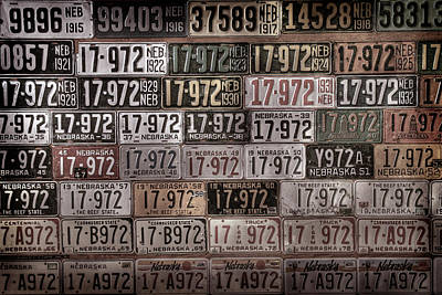 Photograph - License Plates Of Nebraska by Andrea Kelley