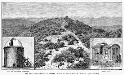 Lick Observatory Photograph - Lick Observatory, 1882 by Granger