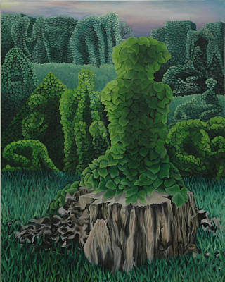 Kudzu Painting - Life Among The Ruins by Jess-o