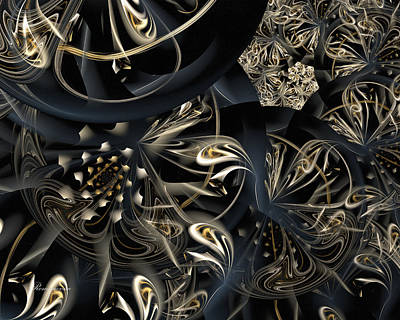Fractal Geometry Mixed Media - Life And Complexity by Georgiana Romanovna