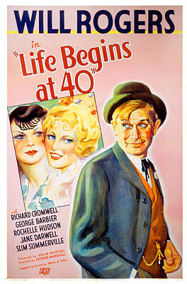 Postv Photograph - Life Begins At Forty, Will Rogers, 1935 by Everett