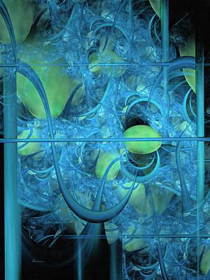 Fractal Geometry Digital Art - Life Behind The Curtain by Georgiana Romanovna