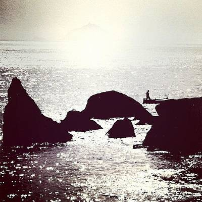 Rock Wall Art - Photograph - Life By The Seaside #sea #light #italy by A Rey