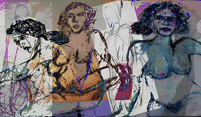 Life Drawing 3 Art Print by Noredin Morgan