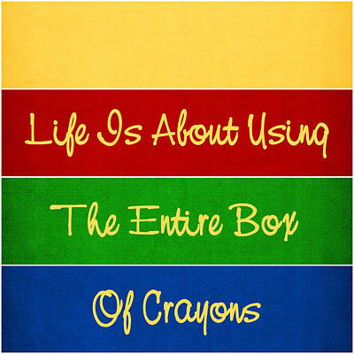 Digital Art - Life In The Crayon Box by KayeCee Spain