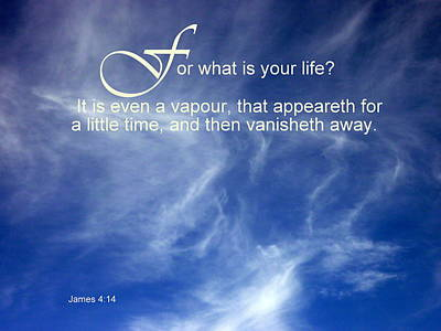 Photograph - Life Is But A Vapour by Cindy Wright