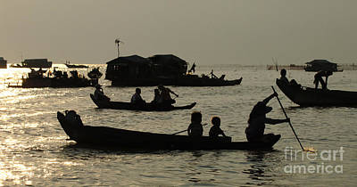 Photograph - Life On Lake Tonel Sap by Bob Christopher