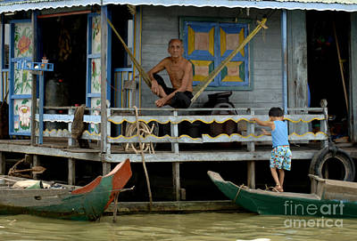 Photograph - Life On Lake Tonle Sap 8 by Bob Christopher