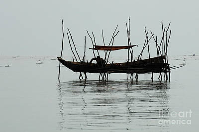 Life On Lake Tonle Sap  Art Print