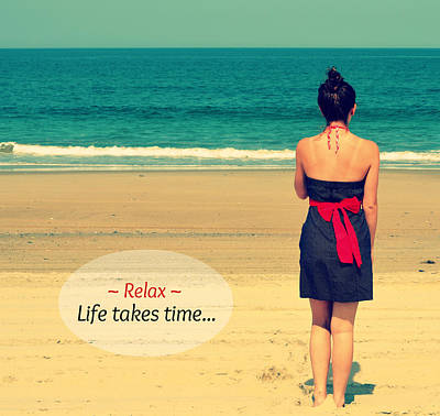 Life Takes Time Art Print by Robin Dickinson