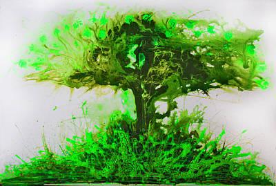Art Print featuring the painting Life Tree by Lolita Bronzini