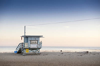Y120831 Photograph - Lifeguard Hut On Sandy Beach by Markus Henttonen
