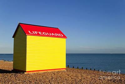 Lifeguard Hut Art Print by Richard Thomas