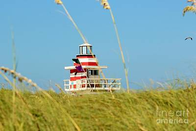 Photograph - Lifeguard Jetty One by Rene Triay Photography