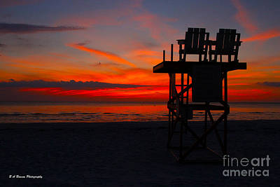 Photograph - Lifeguard Off Duty by Barbara Bowen