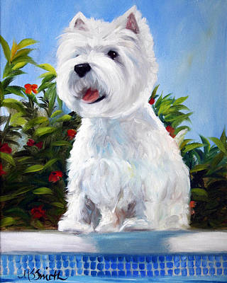 Dog Painting - Lifeguard On Duty by Mary Sparrow