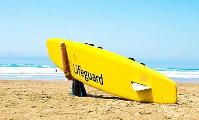 Lifeguard Surfboard Art Print