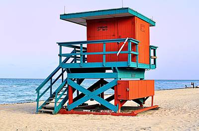 Lifeguard Tower Art Print by Andres LaBrada